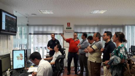 Profesionales de Uruguay toman como referencia la operatividad del servicio de extinción de incendios forestales de Castilla-La Mancha