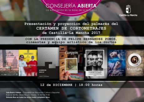 Lo mejor del cine corto de la región se dará cita el martes en 'Consejería Abierta', en un encuentro que contará con nombres como Hernández Ponos