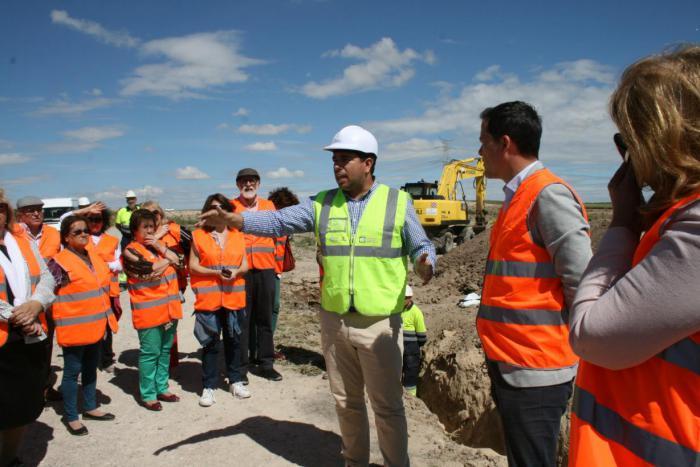 La Agencia del Agua de Castilla-La Mancha supervisa y asegura el buen ritmo de las obras de mejora del abastecimiento a Seseña