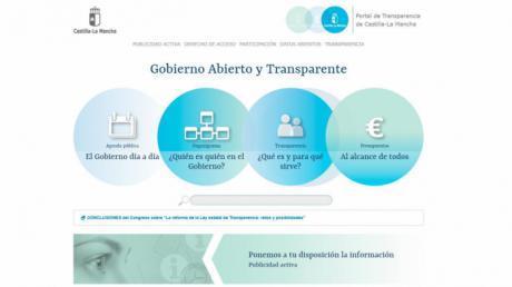 El Portal de Transparencia de Castilla-La Mancha recibió durante los siete primeros meses de 2018 casi 32.000 visitas