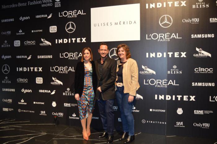 Patricia Franco asiste al estreno de 'Vals' la nueva colección del modisto Ulises Mérida para la temporada otoño/invierno de 2020