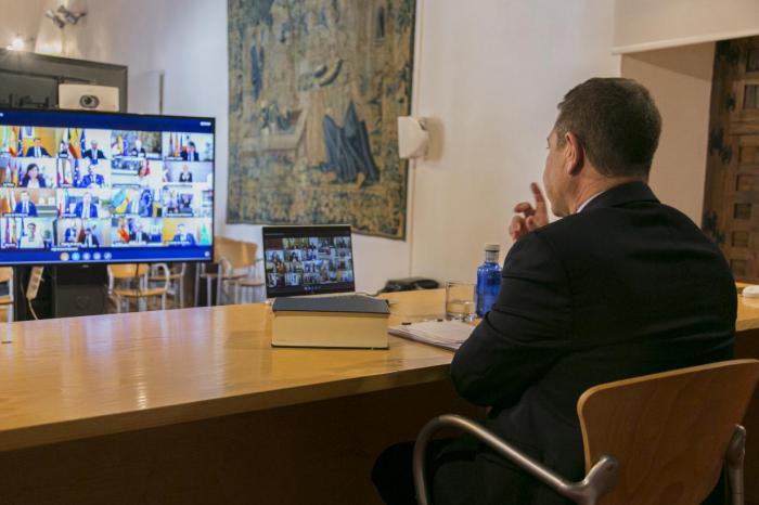 Participa en la video conferencia de Presidentes Autonómicos para abordar el problema de coronavirus