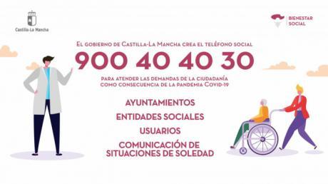 Se habilita el Teléfono Social para atender consultas relacionadas con el coronavirus
