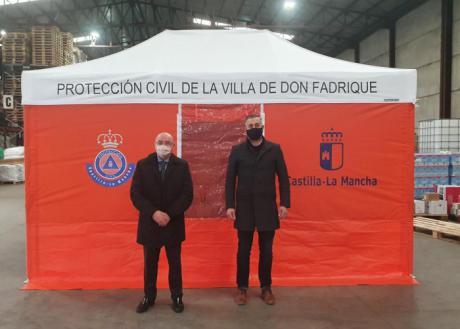 Se distribuyen tiendas de campaña para primeros auxilios a 16 agrupaciones de voluntarios de Protección Civil