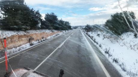 Dos terceras partes de la Red Regional de Carreteras se ven afectadas por el temporal 'Filomena'