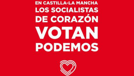 La Junta Electoral de Castilla-La Mancha ordena la retirada del cartel de Podemos con la cara de García-Page