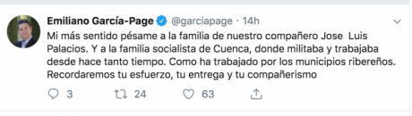 García-Page lamenta la muerte del alcalde de Alcohujate y destaca su entrega