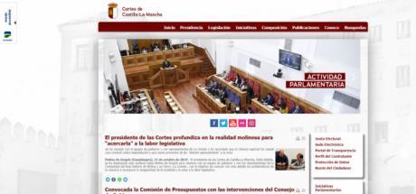 Las Cortes regionales renuevan el diseño de la web y reimpulsan sus redes sociales