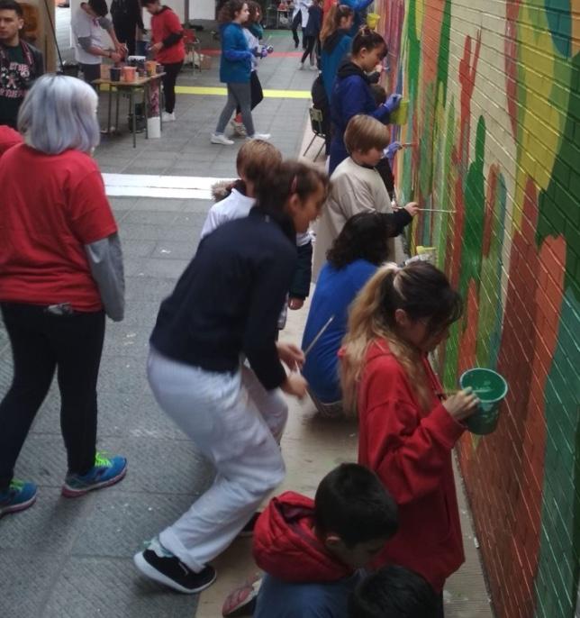 """""""Crecer con el arte"""" en el colegio de 'La Paz'"""