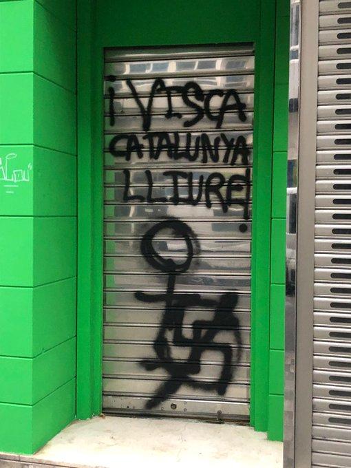 VOX denuncia actos vandálicos en su nueva sede de Carretería