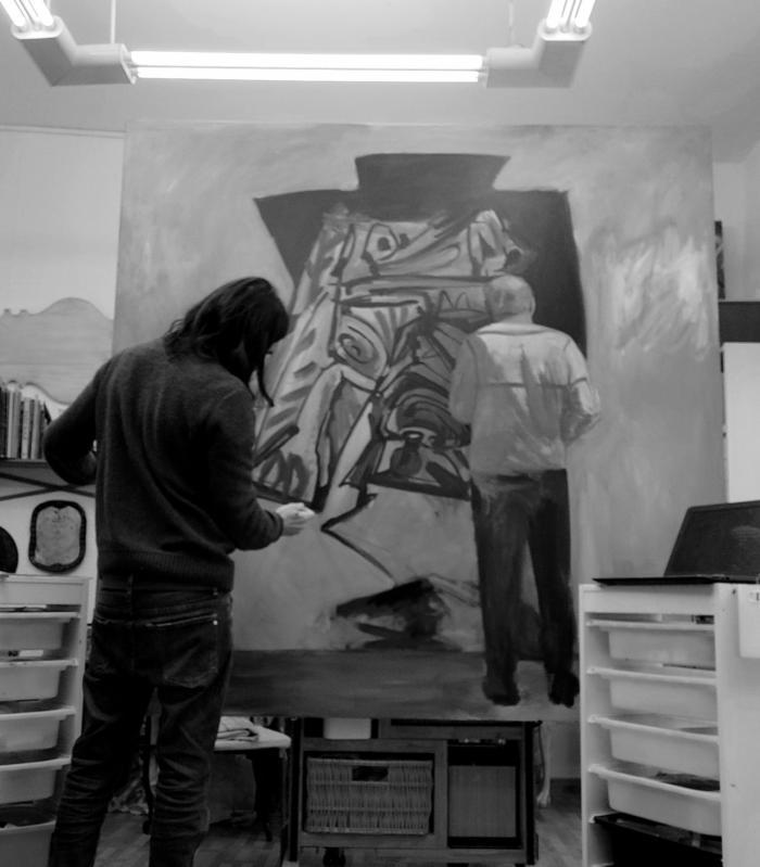 Terán, el artista chileno, vuelve a la Cuenca después de 12 años con una selecciòn de más de 50 pinturas de su serie más reciente: Tributo a los genios