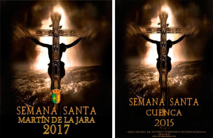 El Ayuntamiento de Martín de la Jara (Sevilla) plagia el cartel de Semana Santa ganador de un concurso fotográfico de 2015 del Amarrado
