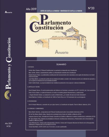 La revista 'Parlamento y Constitución' dispone de un nuevo portal en la web de las Cortes regionales