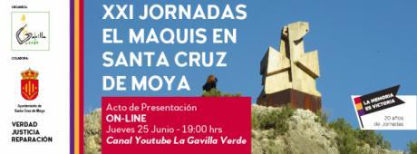 Las jornadas dedicadas a los maquis de Santa Cruz de Moya serán virtuales este año