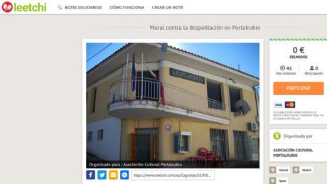 """Portalrubio de Guadamejud inicia una campaña de micromecenazgo para realizar un mural contra la despoblación que """"aporte luz"""" y """"despierte conciencias"""" sobre la necesaria lucha por el cambio"""
