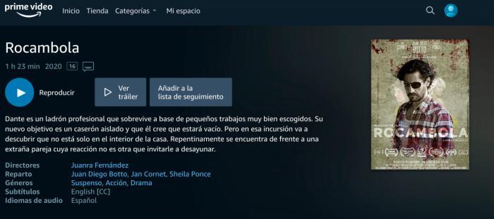 """""""Rocambola"""", de Juanra Fernández, ya disponible en Amazon Prime Video"""
