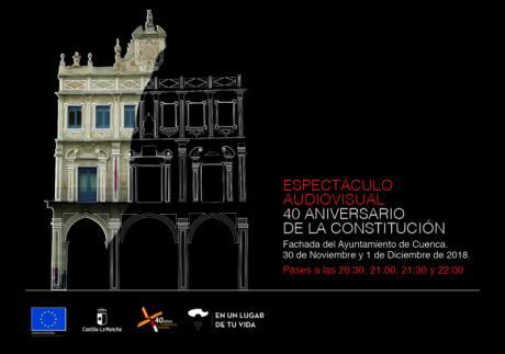 La Junta trae a Cuenca un video-mapping conmemorativo del 40 aniversario de la Constitución los días 30 de noviembre y 1 de diciembre