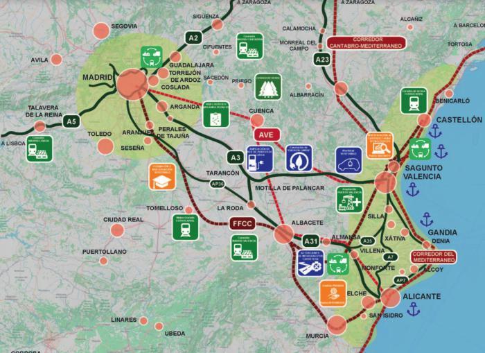 CEOE CEPYME apoya el proyecto de Conexus de unión verde y digital entre Madrid y Valencia