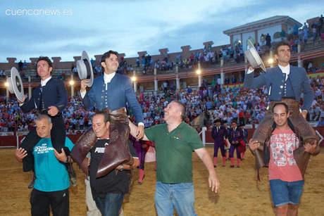 El conquense Sergio Galán marca las diferencias en la de rejones de Fallas