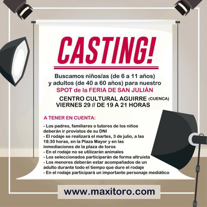 Casting de selección para colaborar en el spot promocional de la 'Champions de San Julián'