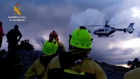 Rescatada en helicóptero un senderista de 58 años en el Cerro de San Felipe
