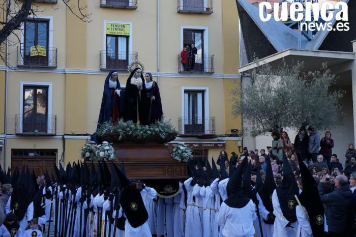 La procesión del Duelo pendiente del tiempo este Sábado Santo