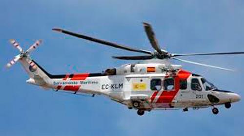 Un helicóptero de Salvamento Marítimo se ve forzado a aterrizar en la provincia de Cuenca
