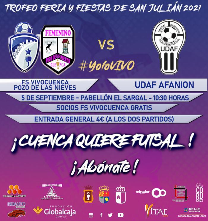 El FS VivoCuenca se presenta oficialmente este domingo ante su afición