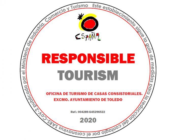 Toledo cuenta ya con el sello de 'Turismo Responsable' del Ministerio que garantiza un servicio de calidad y seguro al visitante
