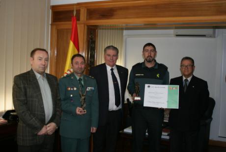 """El Seprona de la Guardia Civil de Cuenca recibe un reconocimiento por su labor de protección de """"Las Chorreras"""""""