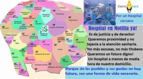 Cuenca Ahora propone la construcción de un Hospital para la comarca de la Manchuela conquense, en Motilla del Palancar