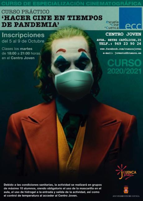 El lunes se inicia el periodo de inscripciones del curso 'Hacer cine en tiempos de pandemia' del Centro Joven