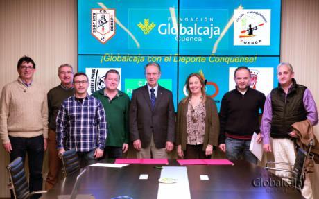 La Fundación Globalcaja renueva el convenio de colaboración al Club Piragüismo Cuenca con Carácter