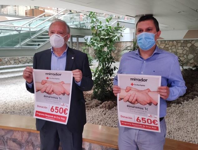 El Mirador entrega 650 euros al Plan Cruz Roja RESPONDE