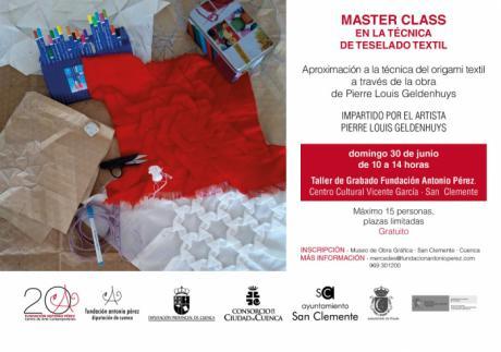 El artista Pierre Louis Geldenhuys realizará una Master Class en la técnica de teselado textil en el Museo de Obra Gráfica de San Clemente