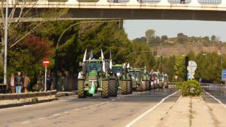 La movilización agraria de este martes ocasionará restricciones puntuales de tráfico