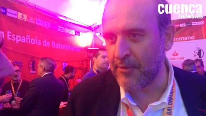 """José Luis Martínez Guijarro: """"Es una magnífica noticia para el deporte de Castilla-La Mancha que el Liberbank Cuenca esté en competición europea por segundo año consecutivo"""""""