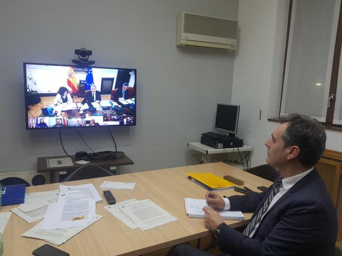 El delegado del Gobierno en Castilla-La Mancha, Francisco Tierraseca, participa en la videoconferencia del Comité Estatal de Coordinación