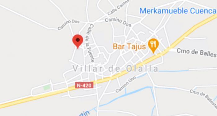 Ileso tras quedar atrapado en el incendio de su vivienda en Villar de Olalla