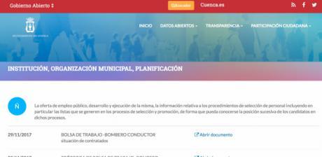 La posición de los candidatos incluidos en bolsas de trabajo del Ayuntamiento ya se puede consultar en la web municipal