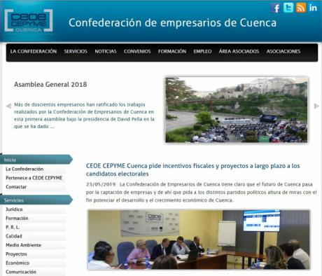 La web y las redes sociales de CEOE CEPYME Cuenca multiplican su seguimiento