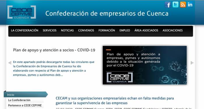 CEOE CEPYME Cuenca propone la formación on line a empresas y trabajadores para seguir formándose